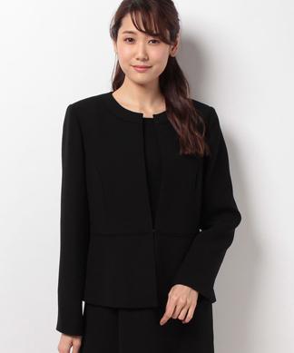 【セットアップ対応商品】ウエスト切替ノーカラージャケット