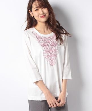 スパンコール&刺繍Tシャツ