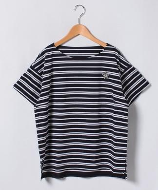 スターモチーフボーダー柄Tシャツ