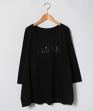 【19+】スパンコールロゴTシャツ