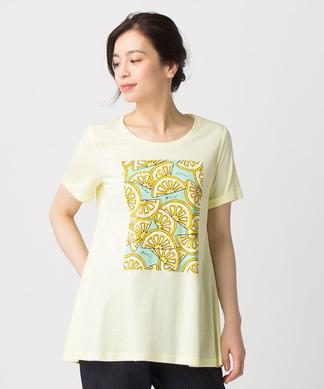 レモン柄Tシャツ