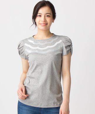 スカラップスパンコールTシャツ
