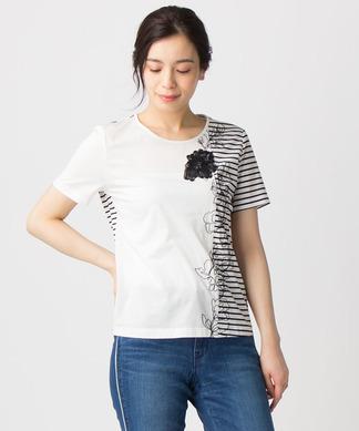 ボーダーミックスTシャツ