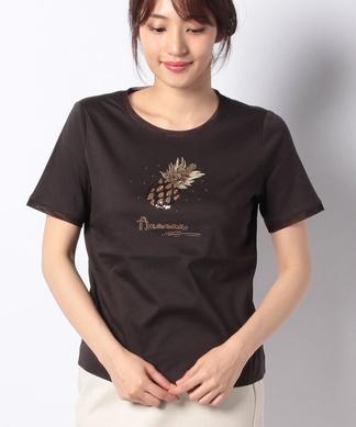 パイナップル刺繍カットソー