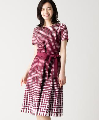 【特別提供品】シルク混ジオメトリックワンピース