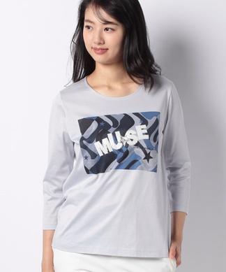 【MUSE BY ROCHAS Premiere】幾何学プリントTシャツ