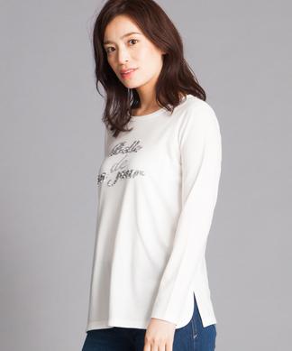 スパンコール×ロゴTシャツ