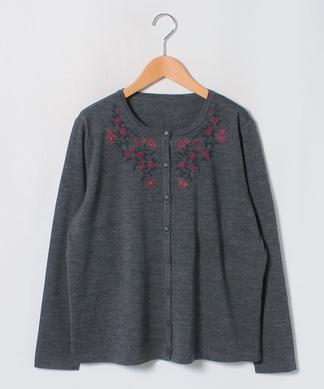フラワー刺繍カ-ディガン