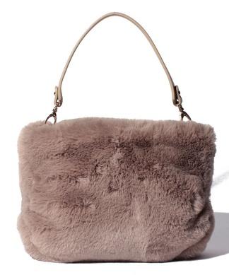 ロングストラップ付きハンドバッグ