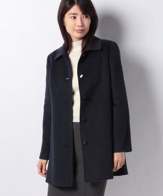 【深喜毛織】カシミヤ混ステンカラーコート