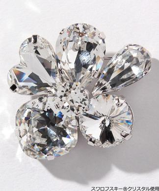 ビジューブローチ(Swarovski(R)・Crystals)