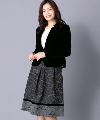 ジャケット+フレアスカートセット