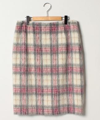 起毛チェックタイトスカート