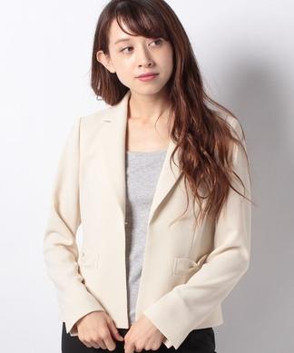 リボン風ポケットジャケット