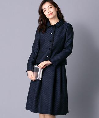 【特別提供品】ジャカード千鳥格子柄スーツ
