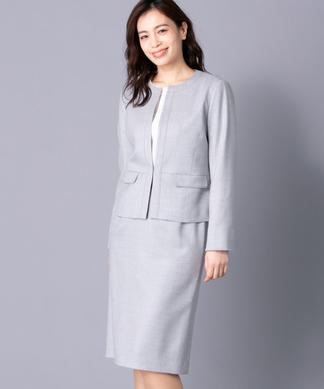 【特別提供品】ノーカラージャケット×スカートスーツ