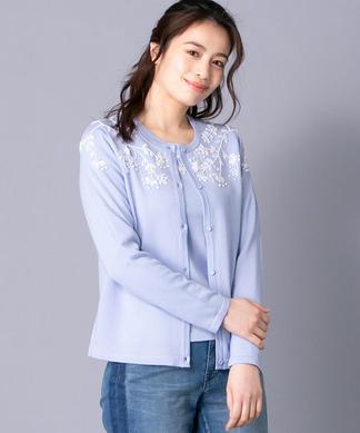 【特別提供品】フラワー刺繍セーターアンサンブル