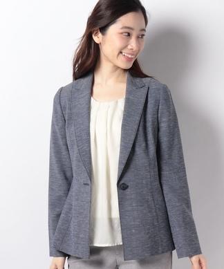 【ROCHAS Premiere】ウール×麻テーラードジャケット