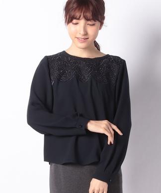 【ROCHAS Premiere】刺繍ブラウス