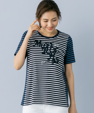 【MUSE BY ROCHAS Premiere】ビーズ刺繍Tシャツ