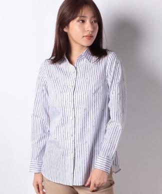 ストライプ×イカリマークシャツ