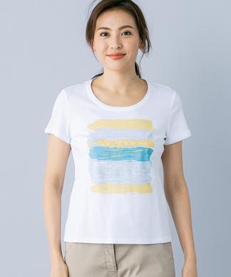 ペールボーダーTシャツ