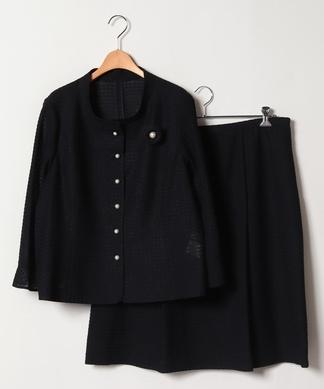 【19+】ツイードジャケット・フレアスカートセット