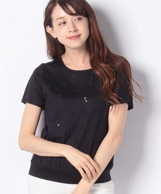 【ROCHAS Premiere】ロゴ刺繍半袖プルオーバー