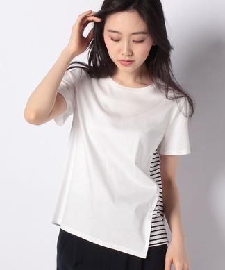 異素材アシメTシャツ