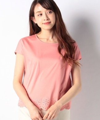 【ROCHAS Premiere】アイレットレースTシャツ