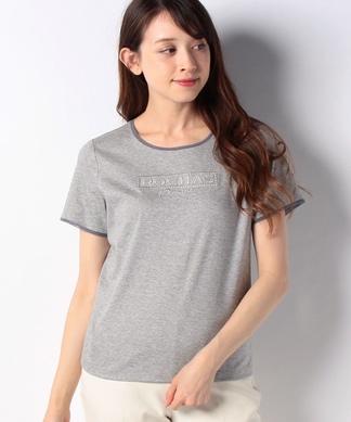 【ROCHAS Premiere】ロゴ刺繍Tシャツ