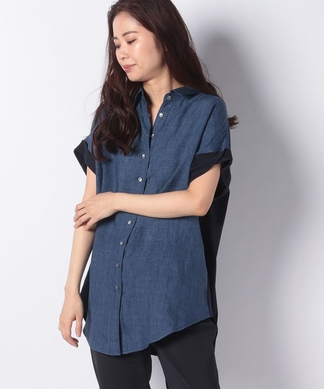 【ROSSO35】配色羽織シャツ
