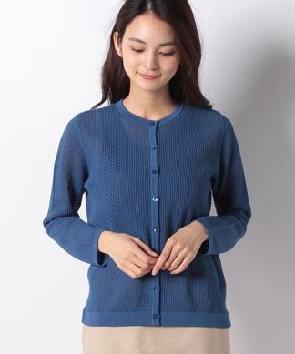 透かし柄編みカ-ディガン