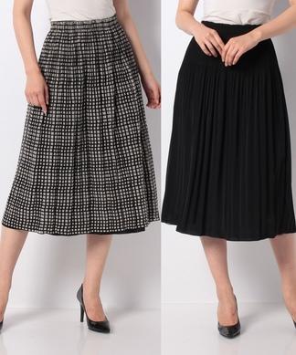 2パターンプリーツスカート