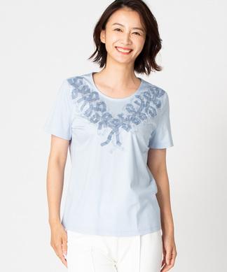 【特別提供品】刺繍×プリントリボンTシャツ