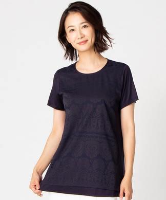 【特別提供品】レース柄Tシャツ