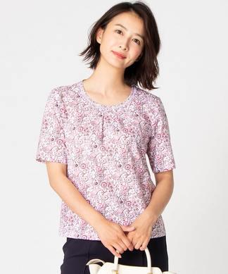 【特別提供品】フラワー&ペイズリープリントTシャツ