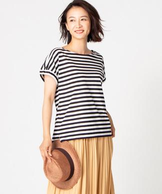 【特別提供品】ラグランスリーブボーダー柄Tシャツ