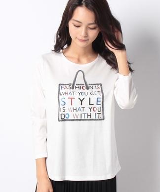 7分袖カットソーTシャツ