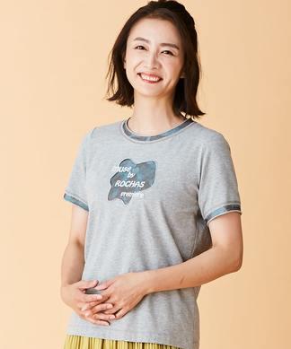 【MUSE BY ROCHAS Premiere】ロゴ刺繍Tシャツ