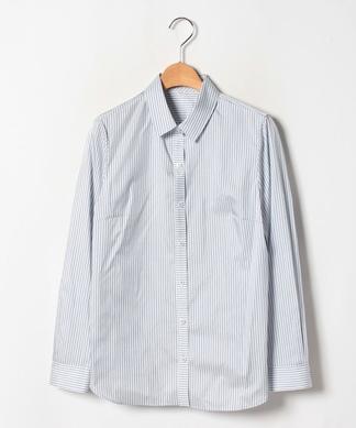 シルク混ストライプシャツ