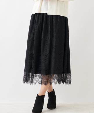 【エクラ11月号掲載】レーススカート