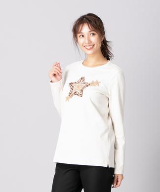 【エクラ11月号掲載】星モチーフTシャツ
