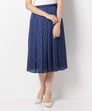 【セットアップ対応商品】ループ模様プリーツスカート