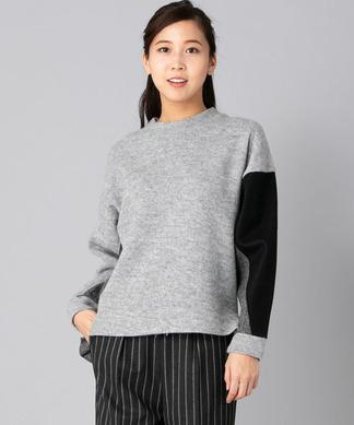 配色切替えセーター