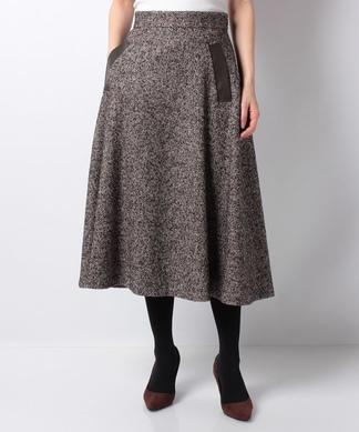 【特別提供品】ヘリンボーン柄フレアースカート