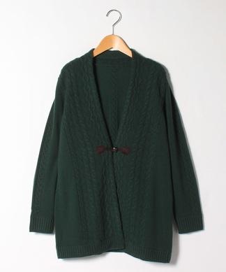 【特別提供品】カシミヤケーブル編みカーディガン