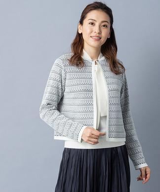 【特別提供品】レース風ニットカーディガン