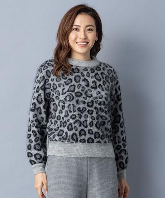 【特別提供品】モヘヤアニマル柄ニット