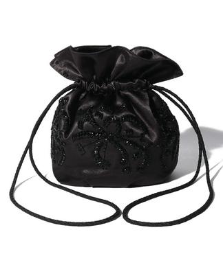 ビーズモチーフ巾着バッグ